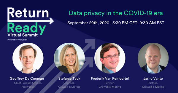 Proxyclick Return Ready Summit Data Privacy