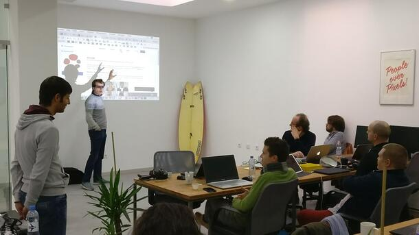 Geoff presenting