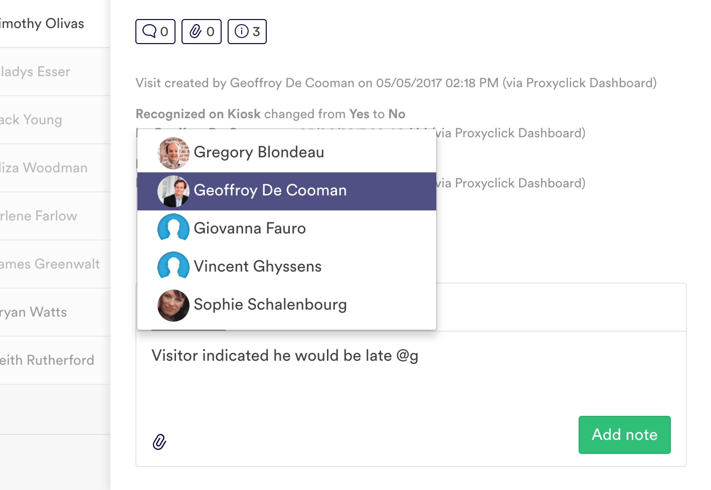 Easily message your team by directly mentionning them