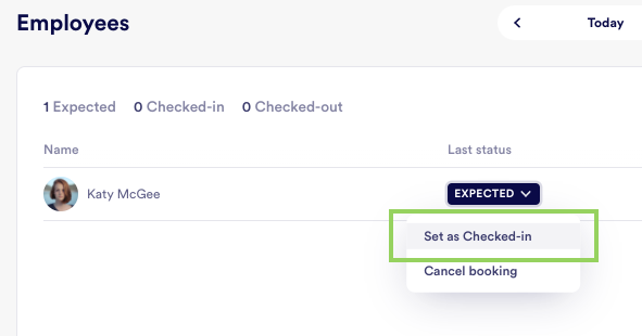 Check in expected employees from the logbook - product update