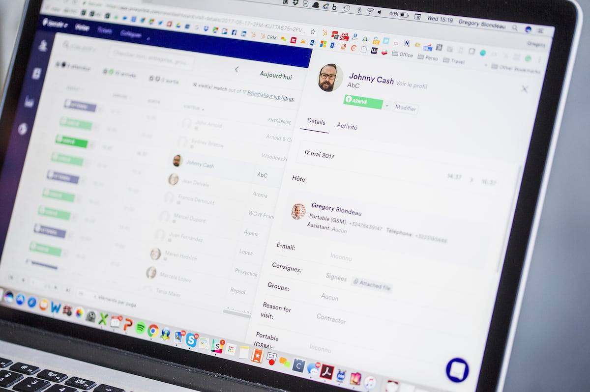 Desktop app Proxyclick