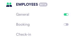 Employee menu PU