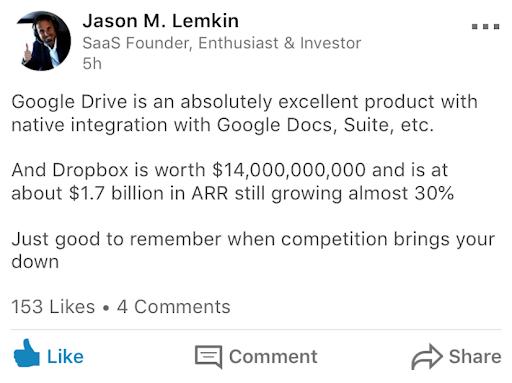 Jason Lemkin quote