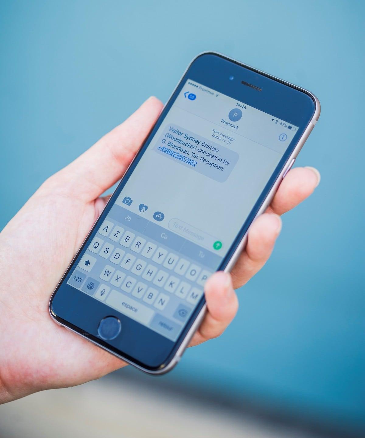 Text Host Notification