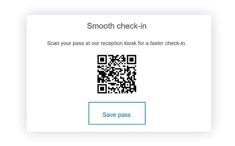 front desk kiosk check in QR code Proxyclick