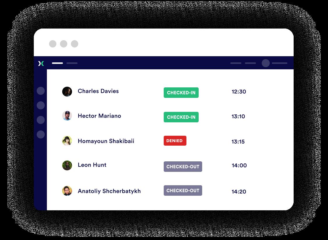 Proxyclick Employee dashboard
