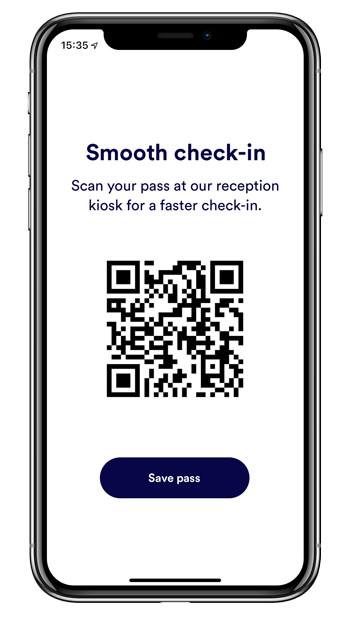 mobile qr code for front desk check-in