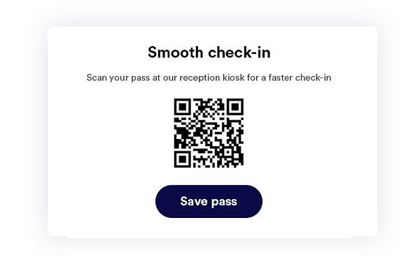 invitation email QR code check in