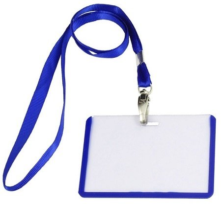 lanyard badge holder example