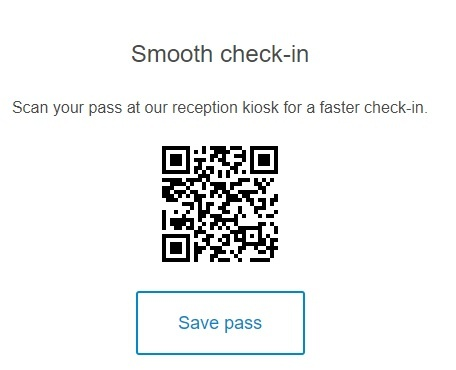 smooth check in with a qr code